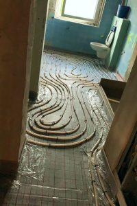 Fußbodenheizung im Bad